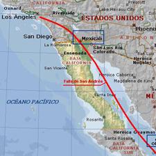 Falla de San Andres Mapa