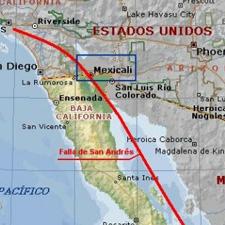 Falla de San Andres Mexico