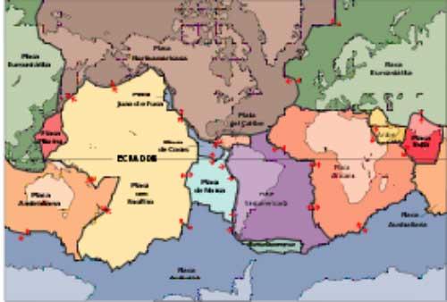 Placas Tectónicas Falla de San Andrés Mapa por donde pasa